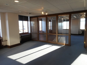 Suite 818 (1603sf), 3 large offices, great view.